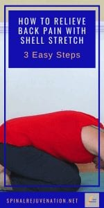 Shell stretch is a classic Pilates exercise used to relieve tight back muscles. Follow these 3 easy steps to relieve low back pain and feel better now. #shellstretch #shellstretchpilates #backpainrelief #backpainstretches